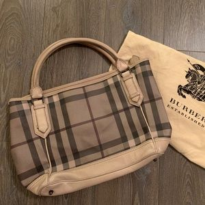Burberry check tote